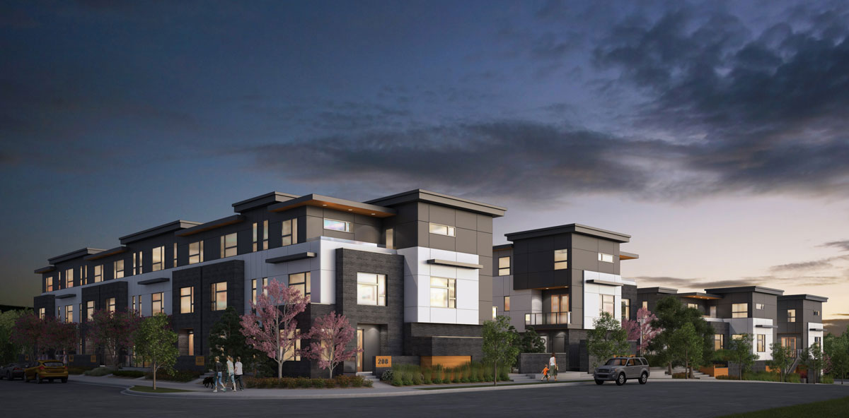 Wilshire at West District - Townhomes - Exterior