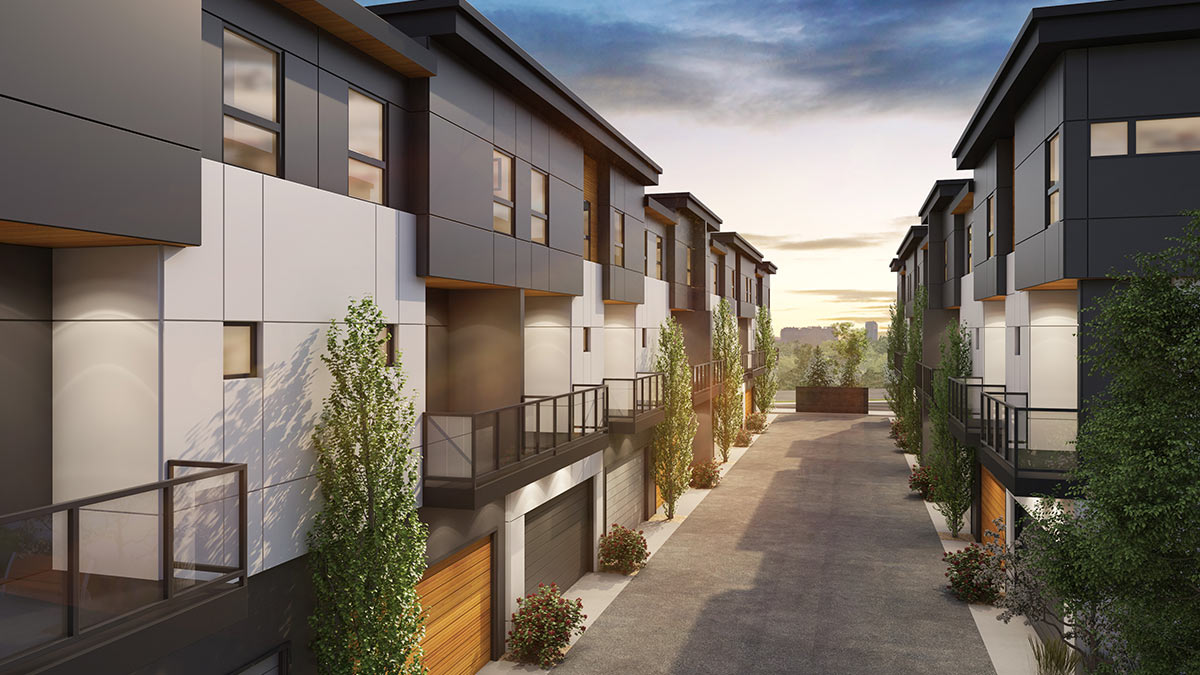 Wilshire at West District - Townhomes - Exteriors - Garage